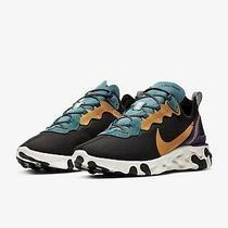 Nike React Element 55 Prm Black Teal Gold Purple Running Shoes Ci9593-002 Picksz Photo