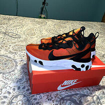 Nike React Element 55 Prm Su19 Sunrise Black White Men Running Shoes Bq9241-001 Photo
