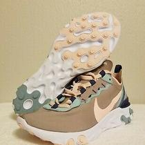 Nike React Element 55 Pumice Pink Ck0834-200 Womens Size 6.5 Running Shoes Rare Photo