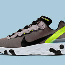 Nike React Element 55 Pumice Volt Green Black Running Shoes Size 13 Bq6166-201 Photo