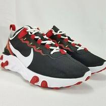 Nike React Element 55 Running Shoes Womens Sz 7 Black Red Bq2728-009  Photo