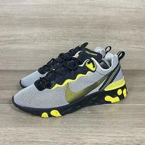 Nike React Element 55 Running Shoes Yellow Platinum Blk Ck1686-001 Mens Size 10 Photo