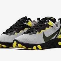 Nike React Element 55 Running Shoes Yellow Platinum Blk Ck1686-001 Mens Size 11 Photo