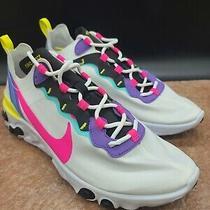 Nike React Element 55 Running/training Shoes White Ck0846-100 Men's Size 10 Photo