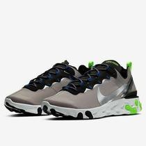 Nike React Element 55 Se Grey Silver White Black Volt Running Ci3831-200 Size 12 Photo