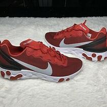 Nike React Element 55 Se Gym Red Wolf Grey White Black Air Running Max 10.5 New Photo