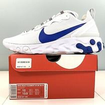 Nike React Element 55 Se Su19 Running Shoes White / Blue Bq6167-100 Men Size 12 Photo