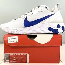 Nike React Element 55 Se Su19 Running Shoes White / Blue Bq6167-100 Men Size 11 Photo