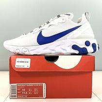 Nike React Element 55 Se Su19 Running Shoes White / Blue Bq6167-100 Men Size 10 Photo