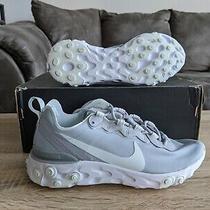 Nike React Element 55 Sz 7.5 Bq2728 005 Running Wolf Grey White Photo