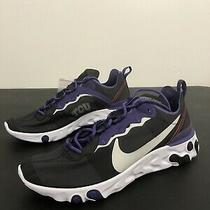 Nike React Element 55 Tcu Horned Frogs Men's Size 10.5 Running Shoes Ck4849-001  Photo