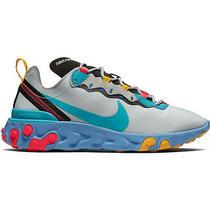 Nike React Element 55 Teal Nebula Mens Cq9705-002 Grey Running Shoes Size 9.5 Photo