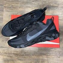 Nike React Element 55 Triple Back Dark Grey Mens Running Shoe Size 13 Bq6166 008 Photo
