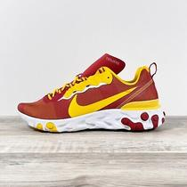Nike React Element 55 Usc Trojans Ck4853 600 Red Yellow Running Shoes Mens Sz 12 Photo