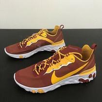 Nike React Element 55 Usc Trojans Men's Size 12 Running Shoes Ck4853-600 Photo