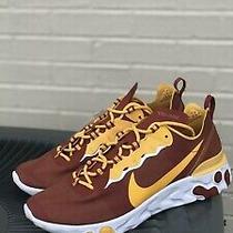 Nike React Element 55 Usc Trojans Mens Shoes Ck4853-600 Red/yellow Size 6m Photo