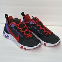 Nike React Element 55 Womens Running Shoes Black Purple Cq9903 001 Sizes 6 New Photo