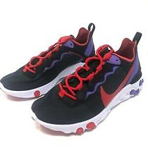 Nike React Element 55 Womens Running Shoes Black Purple Cq9903 001 Multiple Size Photo