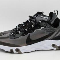 Nike React Element 87 Anthracite Black Mens Size Aq1090-001 White Grey Running Photo