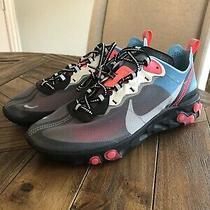 Nike React Element 87 Black/cool Grey-Blue Chill Aq1090 006 Mens Size 8.5 Photo