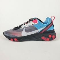 Nike React Element 87 Grey Solar Red Blue Chill Aq1090-006 Mens Running Shoes Photo