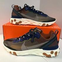 Nike React Element 87 Mens Size 14 Running Shoes Aq1090 200 Grey Multicolor New Photo