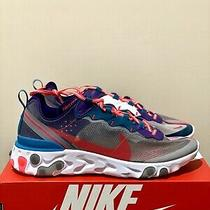 Nike React Element 87 Red Orbit White Mens Running Shoes Cj6897-061 Size 11 Photo