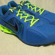Nike Reax Run 8 Mens Athletic Sneakers Size 13 M New Prize Blue/lime Breathable Photo