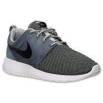 Nike Rosherun Premium Sz 14 Dark Mica Green Black Base Grey 525234-301 Photo