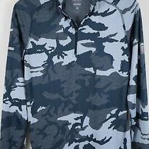 Nike Running Dri-Fit Element 1/4 Zip Jacquard Blue Camo Pullover Size Small Photo