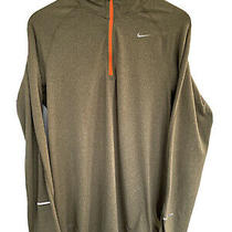 Nike Running Dri-Fit Element 1/4 Zip Pullover Green 3m Reflective Size Mens M Photo