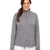 Nike Running Dri Fit Element Half Zip Shirt Womens Plus 1x Dark Gray Heather Nwt Photo