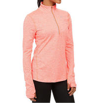 Nike Running Dri Fit Element Half Zip Shirt Womens Plus 1x Orange Heather Nwt Photo