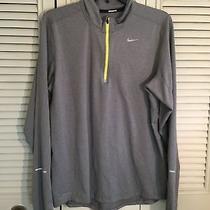 Nike Running Element Dri-Fit 1/4 Zip Pullover Gray 504606 Mens Size Medium  Photo