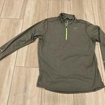Nike Running Element Dri Fit Men's Medium Gray 1/4 Zip Athletic Pullover Euc Photo