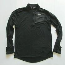 Nike Running Element Sphere Dri-Fit Men's Thermal 1/4 Zip Jacket in Black Size M Photo