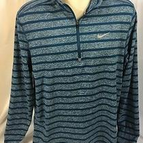 Nike Running Men's Large Element Stripe Half Zip Athletic Shirt 642911 Blue Photo