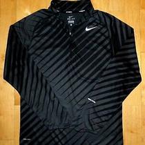Nike Running Mens Dri-Fit Gray & Black Element 1/4 Zip Small S Fitness Pullover Photo