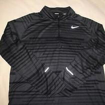Nike Running Pullover Jacketxlblackgray1/4 Zipdri-Fitex Condelementnice Photo