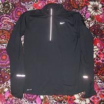 Nike Running Women's Dri-Fit Element Half-Zip Shirt Sz Medium-Black- Training Photo