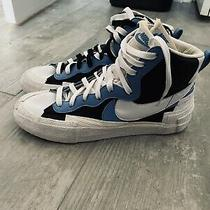 Nike Sacai Blazer Blue Photo