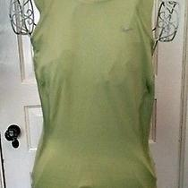 Nike Sage Green Tank Top S Small Athletic Shirt Yoga Run Bike Train Fitness Photo