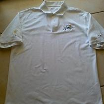 Nike Sanctuary Fit Dry Golf Club White Polo Shirt M Vg Mens Photo