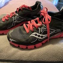 Nike Saucony Pink and Black Sneakers Used Size 8 Photo