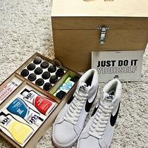 Nike Sb Blazer Mid Diy kit.100% Authentic. Just Do It Yourself Size 9 Canvas Photo