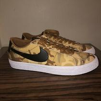 Nike Sb Blazer Zoom Low Canvas Mens Size 9.5 889053-200 Beige Black Photo