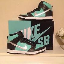 Nike Sb Dunk High Diamond Supply Co (Size 10) Tiffany Aqua Chrome Blk 653599 400 Photo