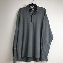 Nike Size Xxl Element Dri-Fit Gray Long Sleeve 1/4 Zip Pullover Jacket Photo
