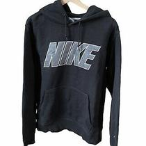 Nike Spell Script Hoodie Navy Sweater Men's Sz M Medium  Photo