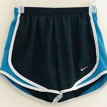 Nike Tempo Dri-Fit Running Shorts Black / Blue / White Lined Womens Sz Small Photo
